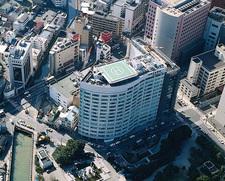 上空より見た済生会病院の全景